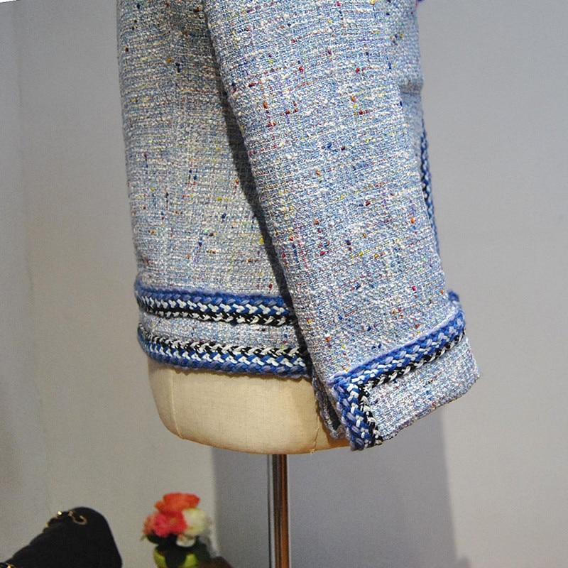 6xl De 5xl Jaqueta Taille Feminina Manteau Tweed Abrigos Plus Femmes Incroyable Base Veste 2017 Mujer Hiver Manteau Élégant Mince Et HqCAwS