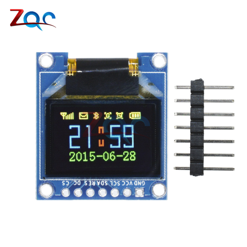 0.95 Inch SPI Full Color OLED Display DIY Module 96x64 LCD For Arduino SSD1306 Driver IC Top Quality 0.95