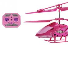 Upgrade Induction RC Flying Toys LED Helicopter Skyline 3.5 Channel Remote Control kids Flying toys Gyro Pink New Mini Drone