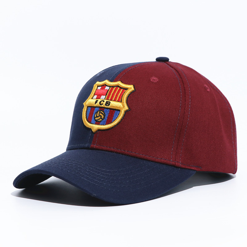 World Football Club Barcelona Embroidered   Baseball     Cap   Soccer Team Logo Adjustable   Cap   for Soccer Fans