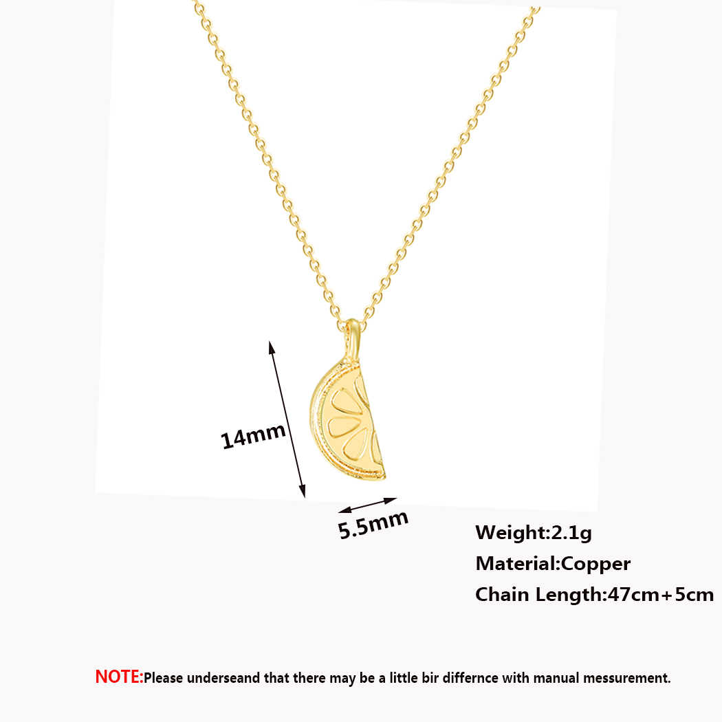 Stainless Steel Lemon Charm Pendant Necklace For Women Men Summer Fruit Jewelry Cute Baby Pendant Necklaces