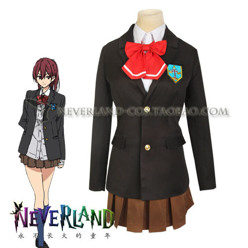 Free! Iwatobi Swim Club Gou Matsuoka Uniform Cosplay Costume high school suit full set coat+shirt+skirt+tie+badge