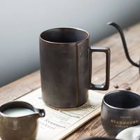 Fosco xícara de café de cerâmica copo de vidro do escritório xícara de cerâmica e copo de água
