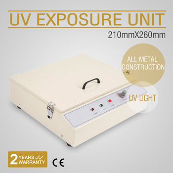 210X260mm Curing Plate UV Exposure Unit Pad Printing Hot Stamping Screen Powerful Lamp 48W