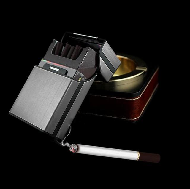4 색 알루미늄 금속 시가 담배 상자 홀더 포켓 담배 저장 케이스