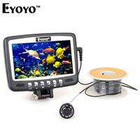 Eyoyo Original 1000TVL Underwater Ice Fishing Camera Fish Finder 15m Cable 4.3'' Color LCD Monitor 8pcs IR LED