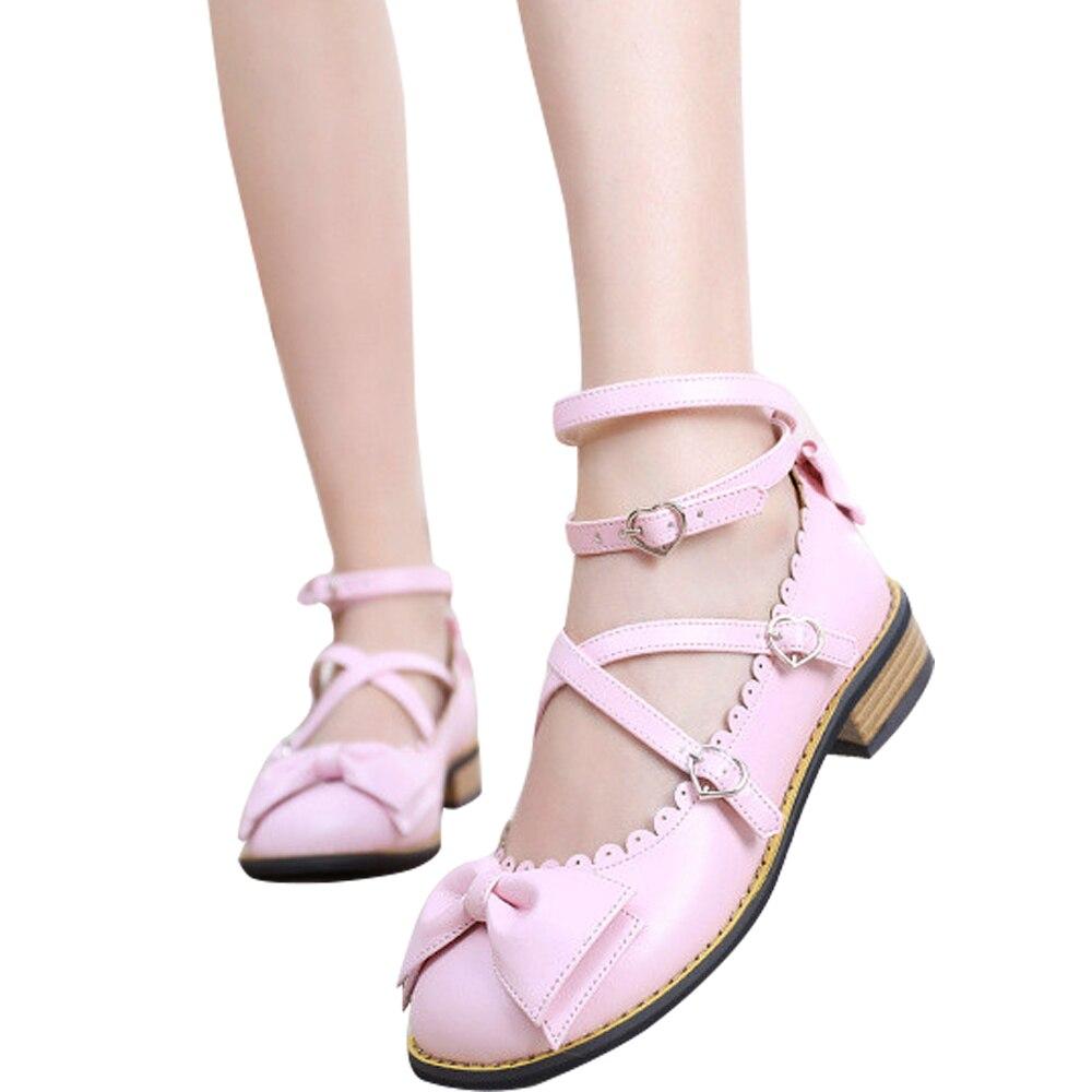 Sangles Douce Mori Lolita Color Talons Kawaii Fille mint noir custom Bowtie Chunky Spéciale Ciel pu Harajuku Croisées Chaussures blanc rose Beige Japonais Green Offre marron violet Ftwz7xqXn