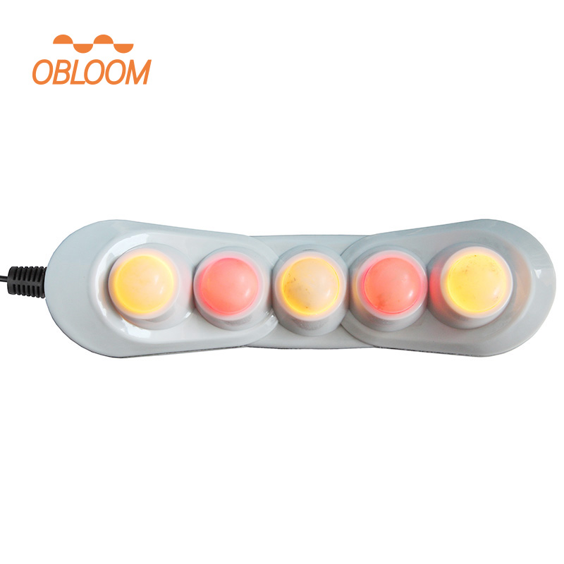 5 ball heated jade stone roller massage device far infrared thermal therapy body pain relief ceragem projector heater