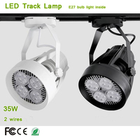 2 Wire Adapter Good Heat Dispersion E27 LED Track Lamp 24 Beam Degree with PAR30 Spot bulb