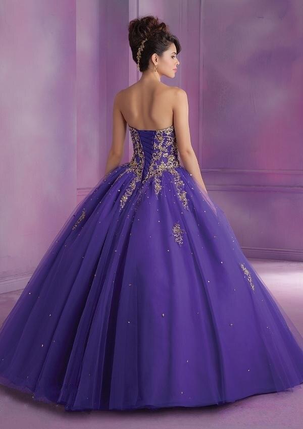 Aliexpress.com : Buy Hot Long Gold Quinceanera Dresses Masquerade ...