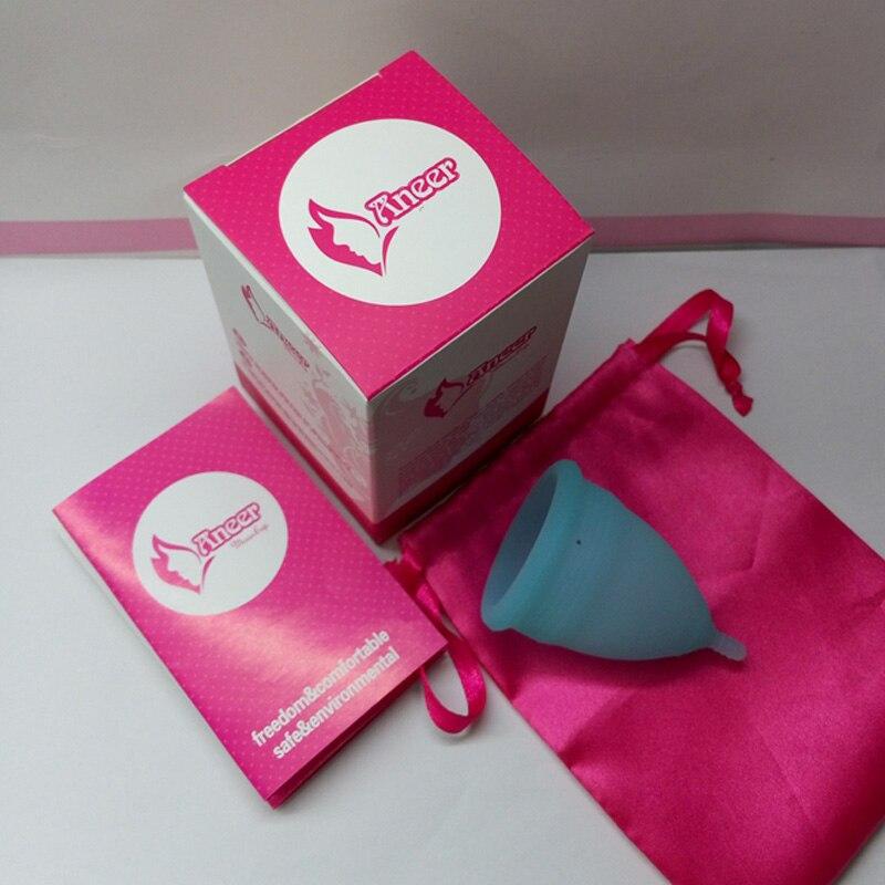 25 pcs/lot Aneer softcup copa coupe menstruelle de silicium femme hygiène féminine produit tasse petite ou grande taille coupé menstruelle