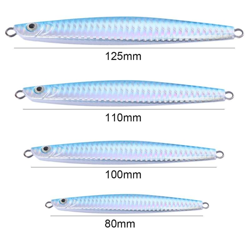 20g <font><b>40g</b></font> 60g 80g Blue Laser Hard <font><b>Metal</b></font> <font><b>jig</b></font> Lead Fishing Lure Simulation Wobbler Sinking Bait Pesca Fishing Baits Tackle Accessory image
