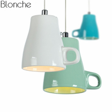 Nordic Tea Cup Teapot Led Pendant Lights Modern Ceramic Hanging Lamp for Home Decor Living Room Kitchen Light Fixtures Luminaire nordic planet pendant lights led hanging lamp colorful hang lamp for living room bedroom kitchen light fixtures decor luminaire