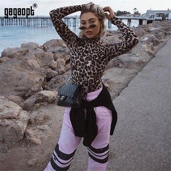 Skinny Playsuit Leopard Sexy Bodysuit 1