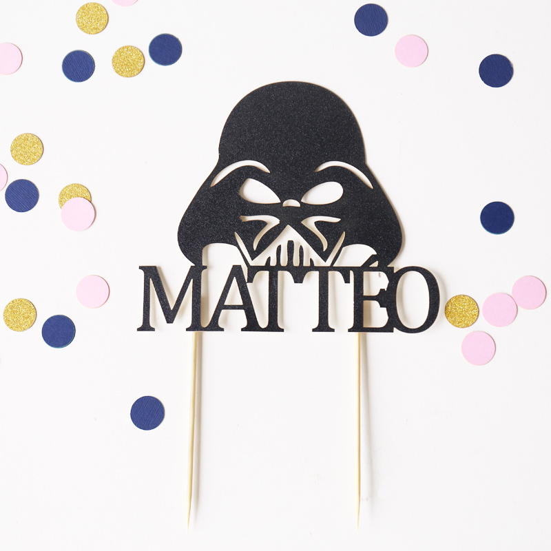 Personalized birthday Cake Topper,Darth Vader Cake Toppe