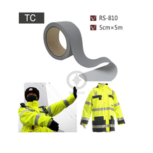 5cmx5m Grey Reflective TC Strip Sewed on Chaleco Reflector for Road Safety