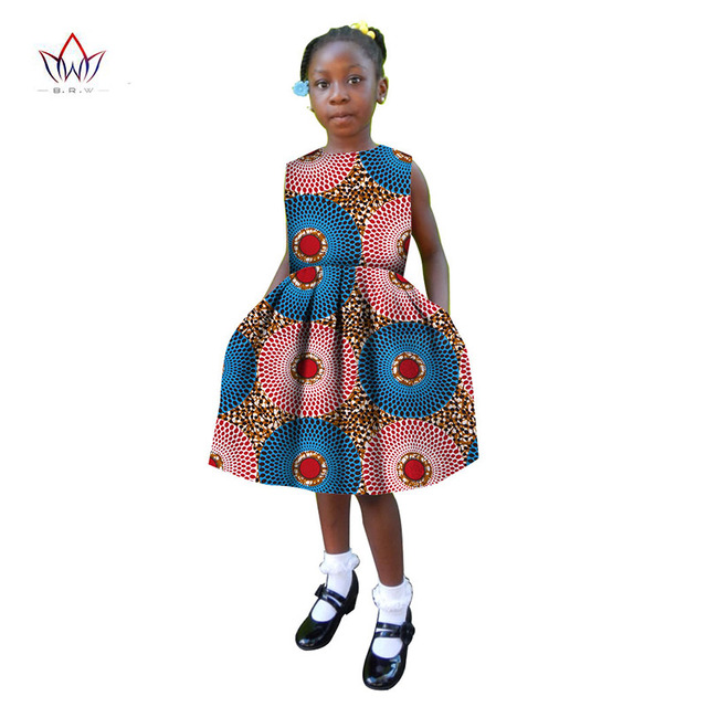 World Apparel African girl Dress African Clothing o-neck African Dashiki Femme Dress Princess Girl Print Dress none BRW WYT03