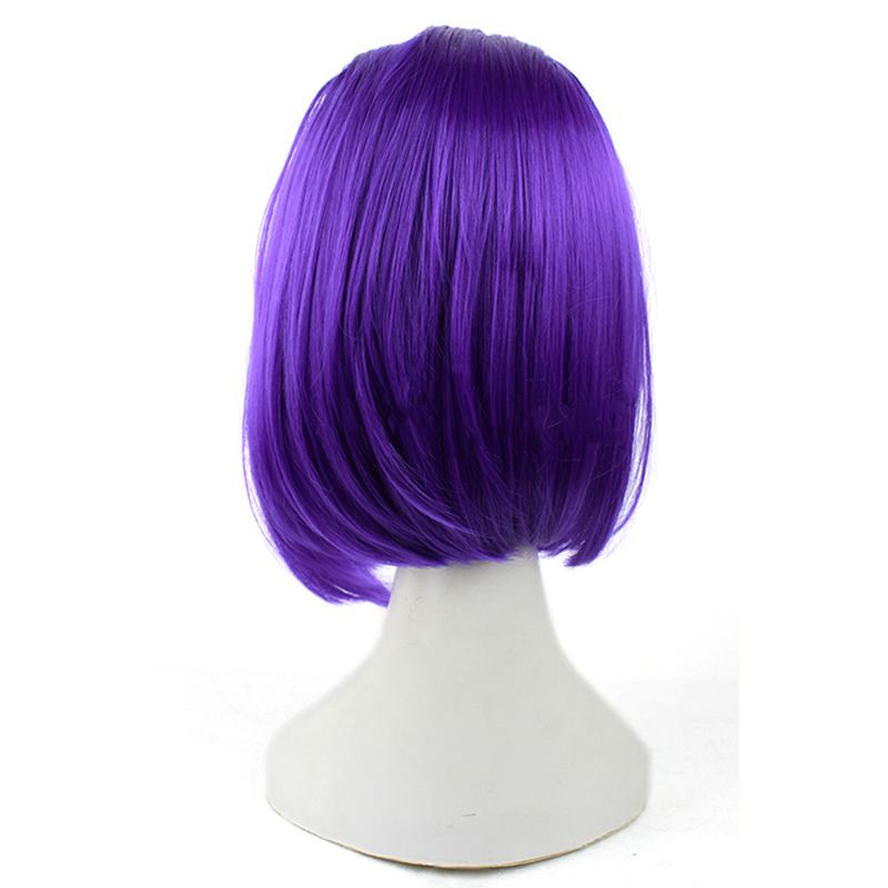 Image 3 - L email wig Brand New 35cm Purple Raven Cosplay Wigs Short Straight Heat Resistant Synthetic Hair Perucas Cosplay Wig-in Synthetic None-Lace  Wigs from Hair Extensions & Wigs