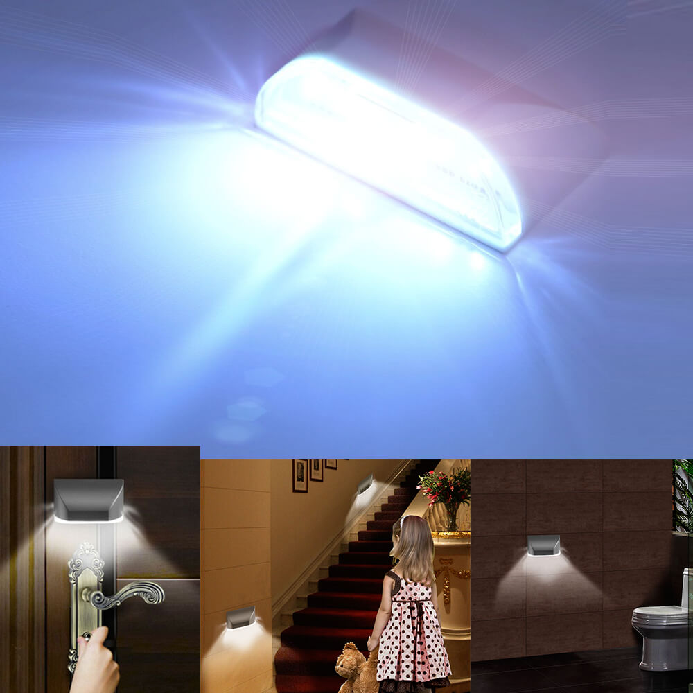 Home Door Keyhole 4 LED Lamp Auto PIR Infrared Wall Night Light Motion Sensor WC Lights Wardrobe Kitchen Hallway Stairway Toilet