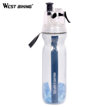 WEST BIKING 500ML Double-Layer Sports Spray Kettle Cycling Sport Water Bottle Bicycle Camping Outdoor Anti-slip Keep Cold