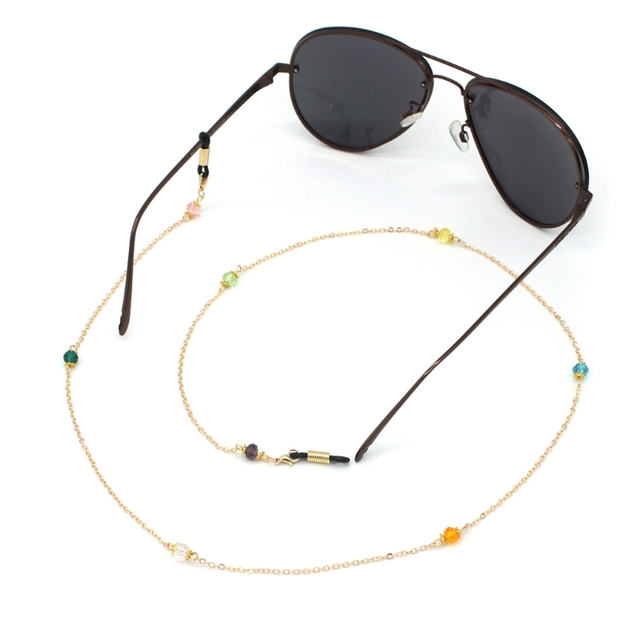 e75bfbcdcaa0 Chic Fashion Gold Reading Glasses Chain Beads Sunglasses Holder Fashion Neck  Strap Metal Rope Eyewear Accessories Lanyards New