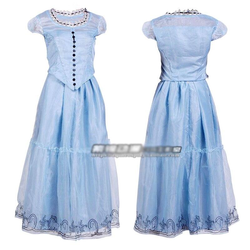 2b6b819db Las aventuras de Alicia en el país de las Maravillas vestido azul de alta  calidad Alice Cosplay traje Cosplay en de en AliExpress.com
