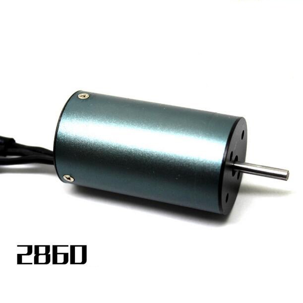 цена на High quality 2860 four pole brushless motor for 1/10 RC Car and 400mm RC Boat 3000KV