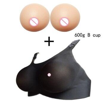 B Cup Bra+Insert Chest pads Seamless Full Cup Bra Silicone Breast Forms Enhancer Bra pad Mastectomy Underwear Pocket boobs bra