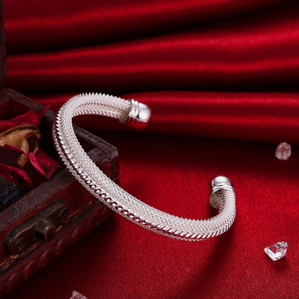 Արծաթ 925 ձեռնաշղթա կինը բացում է - Նուրբ զարդեր - Լուսանկար 3
