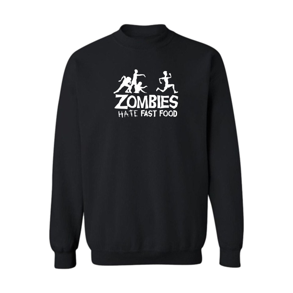Zombies Funny Print Hoodies&Sweatshirts Men Blcak Fashion Cotton Leisure clothes Cool and Hip Hop Style Luxury In Plus Size 4XL
