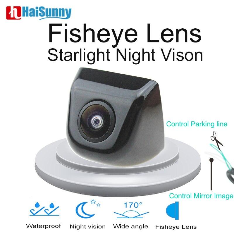Car Fisheye Lens CCTV Camera Starlight Night Vision 170 Degree HD Sony Metal Body Back Rear View Camera For Car Monitor Android