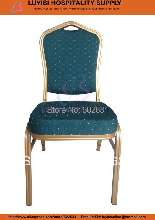 Stackable painted aluminum frame hotel chair A1030L gold aluminum hotel chair