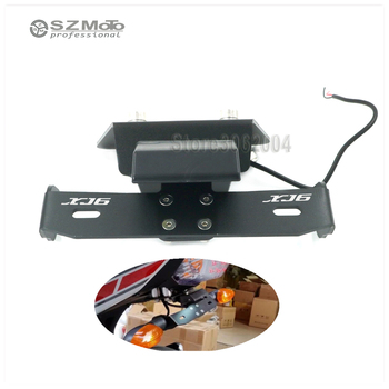 Motorcycle Registration License Plate Holder frame LED Light For YAMAHA XJ6 Diversion F 2009-2013