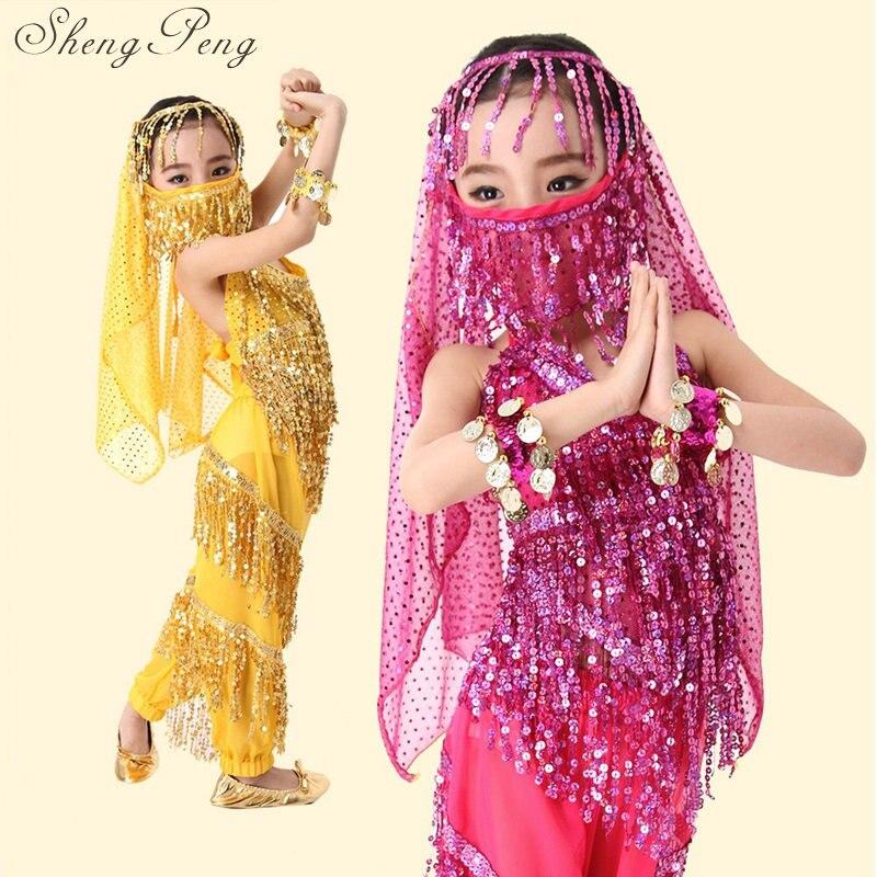 Belly dance costume set oriental dance costumes for kids children girls indian costume bellydance sari indian clothing CC201 индийский костюм для танцев девочек