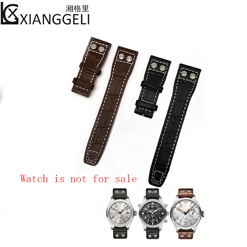 Watch Accessories 22mm IWC Leather Watch Belt IW500401/IW377801 Series Suitable for all types of men and women