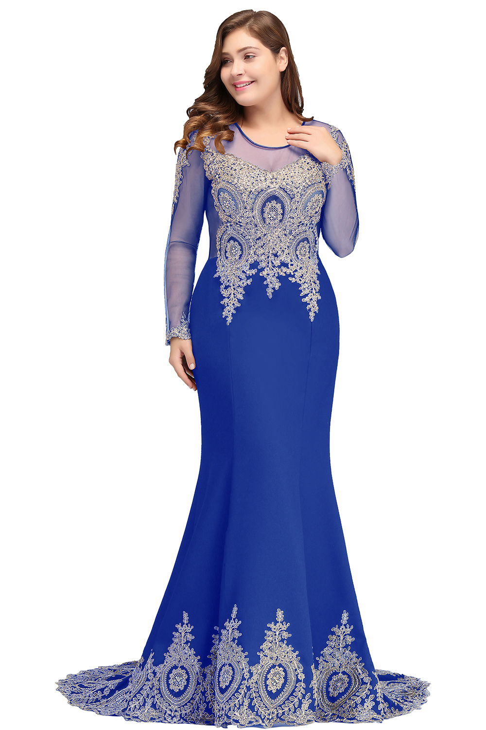 Elegant Mother Of The Bride Dress Lace Satin 2019 Mermaid Long Sleeve Applique Black Long Formal Party Evening Gowns For Wedding