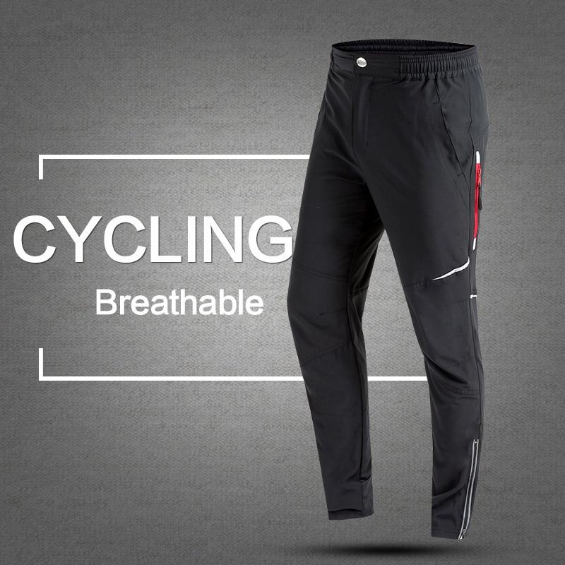 2017 tavaszi és őszi férfi kerékpáros nadrág hosszú kerékpár nadrág Gyors száraz verejték elleni lélegző zsebek Kerékpár nadrágok Kerékpáros ruházat
