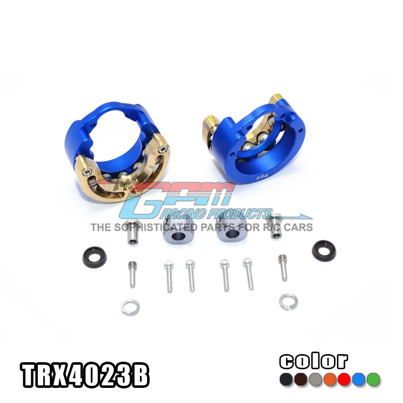 цена на Free shipping TRAXXAS TRX-4 TRX4 82056-4 Alloy pendulum wheel knuckle axle weight + brass cover + 9MM hex adapter - set TRX4023B