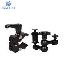 Kaliou قابل للتعديل 7 بوصة مفصلية ماجيك الذراع + S سوبر المشبك ل كاميرا شاشات كريستال بلورية مصباح ليد DSLR فلاش كاميرا قوس