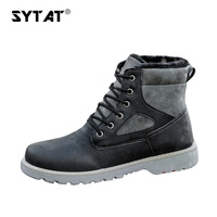 Men Winter Boots Super Warm Comfortable Working Safety Winter Lace Up Men Shoes Ankle Boots Winter