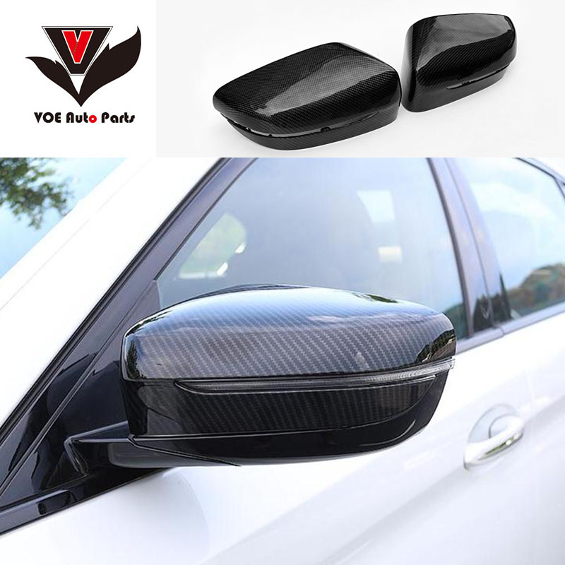 G30 G31 Carbon Fiber Original-style Car-racing Rearview Side Mirror covers Caps for BMW G30 G31 New 5-Series 2017 2018 carbon fiber add on style side wings mirror covers fit for bmw e92 328i 335i 2005 2008 rearview mirror caps car styling page 4