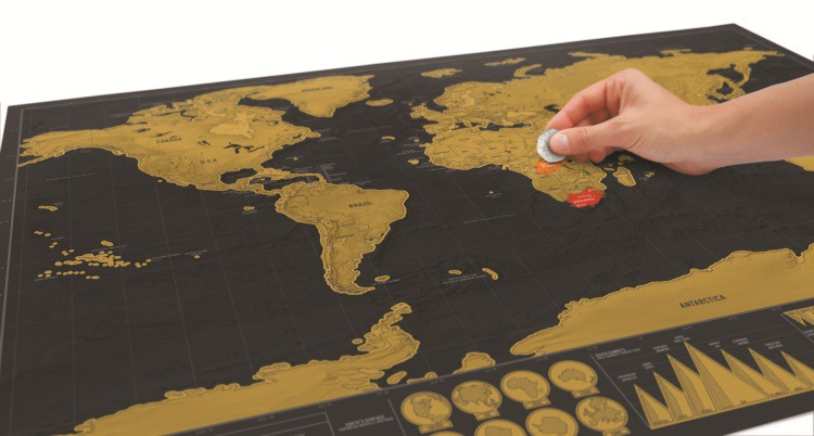 Black Scratch Off Map World Map Best Decor School Office Stationery Supplies Home Decorative Paintings image