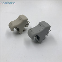 Soarhorse Car Sun Visor Hook clip bracket gray beige For Mitsubishi Pajero Montero III 2000-2006 V73 V77 V93 V97(China)