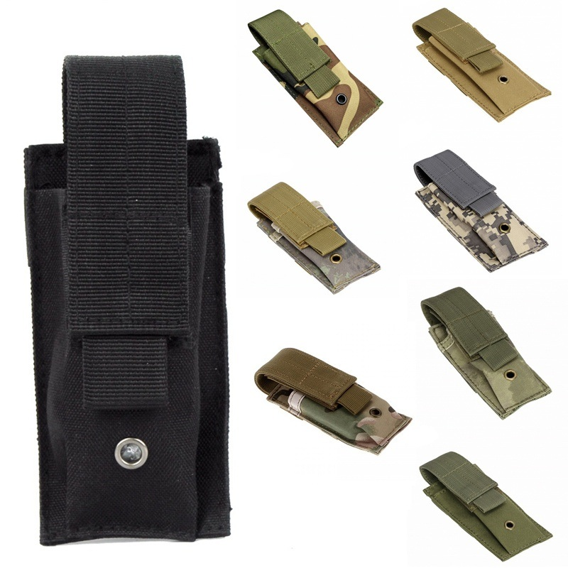 CQC Tactical Molle Airsoft Single Pistol Magazine Pouch Molle Clip Flashlight Knife Holder EDC Tool Hunting Bag 1000d molle men tactical admin magazine storage pouch pistol gun holster bag edc utility accessory pack mag map flashlight bag