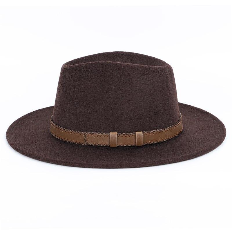 4fddc0cd4 wide brim hat top hat mens hats fedoras Winter Autumn Imitation ...