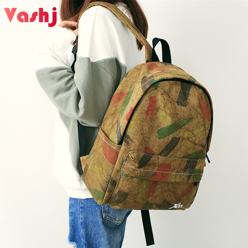 Graffiti Female Backpack Polyester Student School Bag Bookbag Teenager Girls Colorful Camo Young Women Travel Backbag Rucksack