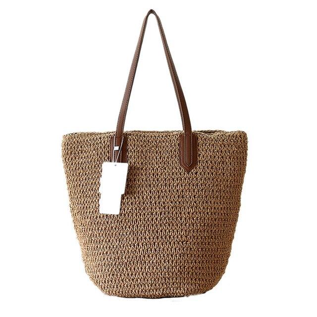 2017 Beach Shoulder Bag For Summer Straw Bags Handmade Woven Tote Women Travel Handbags Luxury