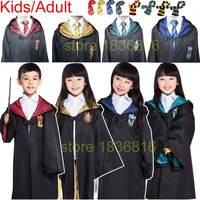 Harry Potter Cosplay Costume Robe Cloak Hufflepuff Ravenclaw Gryffindor Slytherin Tie Scarf For Adult Kids Halloween