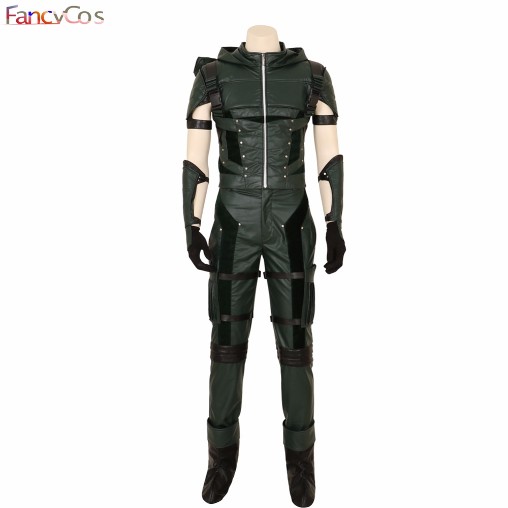 Halloween Green Arrow Season IV Oliver Queen Movie Costume Cosplay  Anime  High Quality Deluxe