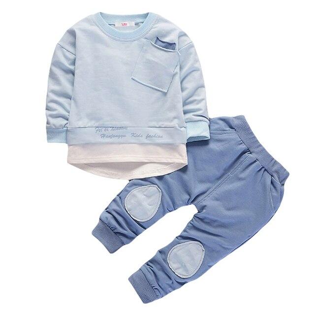 Criança Set Roupas Meninos 2019 Primavera Outono Meninos Roupas T-shirt + Pant 2 pcs Outfit Roupa Dos Miúdos Menino esporte Terno Crianças Roupas